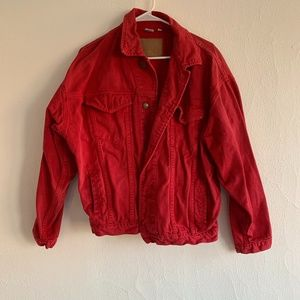 Women's Large Red Jean Jacket
